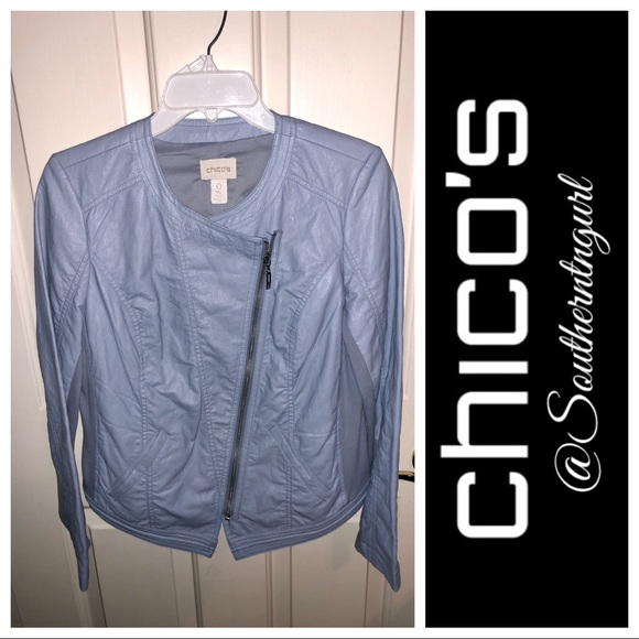 ceff42973f NWT💜CHICO S💜Faux Leather Moto Jacket. Boutique